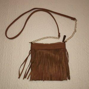 Handbags - Faux Leather Fringe Purse